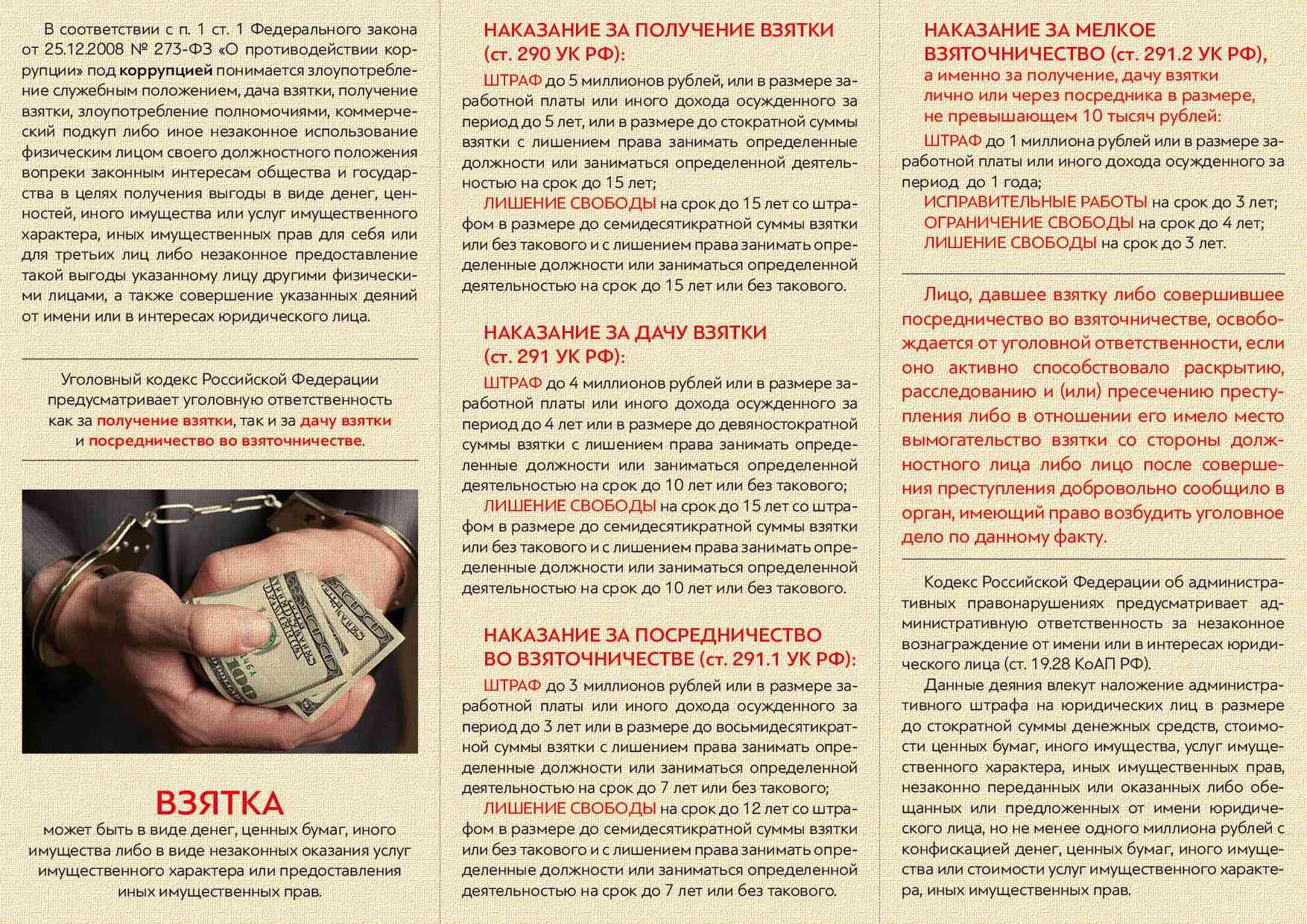 памятка по коррупции