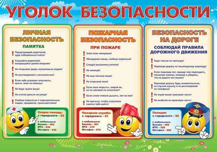 Оформление уголка безопасности своими руками в детском саду